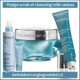 Spiruline dagcrème en eyegel + scrub of milk kado